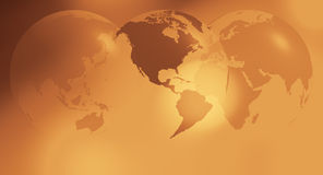 International gold business background. World globe on abstract background Stock Photo