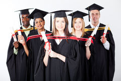 International graduation. Group of international graduates at graduation Stock Image
