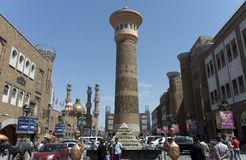 International Grand Bazaar. Urumqi city, Xinjiang province, China Stock Image