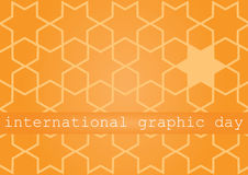 International graphic day. Vector illustration of the International Graphics Day. Festive card. Festive vector illustration Royalty Free Stock Photo