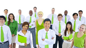 International Green Business People Meeting Stock Photo