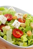 International green salad whit tomato end feta Royalty Free Stock Images