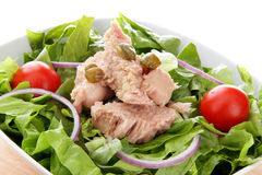 International green salad whit tomato end tuna fis Royalty Free Stock Image