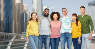 International group of happy people in dubai Royalty Free Stock Photos