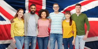 International group of happy smiling people Stock Photography
