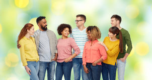 International group of happy smiling people Royalty Free Stock Photos