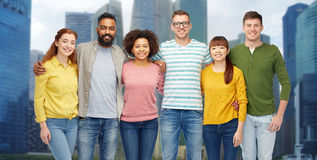 International group of happy smiling people Stock Photos