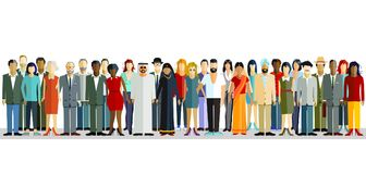 International group of people. An illustration of a group of people with different international backgrounds and appearances vector illustration