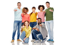 International group of people pointing on you Royalty Free Stock Images