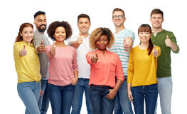International group of people showing thumbs up Royalty Free Stock Photos