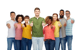 International group of people showing thumbs up Stock Photos