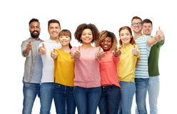 International group of people showing thumbs up Royalty Free Stock Photography