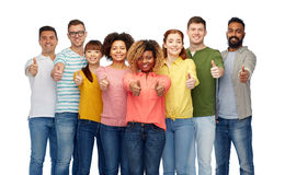International group of people showing thumbs up Stock Image