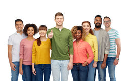 International group of people showing thumbs up Royalty Free Stock Photo
