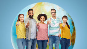 International group of people showing thumbs up Stock Images
