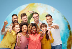 International group of people showing thumbs up Stock Photography
