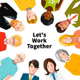International group of people working in team. Illustration isolated on white vector illustration