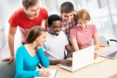 International group of students Royalty Free Stock Image
