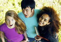 International group of students close up smiling Stock Image