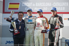 INTERNATIONAL GT OPEN. PODIUM OF EUROFORMULA OPEN Royalty Free Stock Images