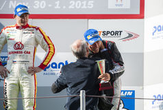 INTERNATIONAL GT OPEN. PODIUM OF EUROFORMULA OPEN Stock Images