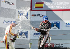 INTERNATIONAL GT OPEN. PODIUM OF EUROFORMULA OPEN Royalty Free Stock Image