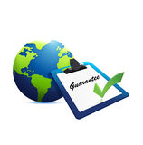 International guarantee concept illustration Stock Images