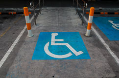International handicapped symbol Royalty Free Stock Photo