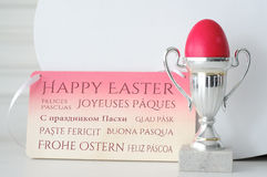 International Happy Easter Greetings Royalty Free Stock Photography