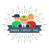 International Happy Labour Day Poster. vector illustration. International Happy Labour Day Poster. vector Vector Illustration