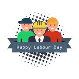 International Happy Labour Day Poster. vector illustration. International Happy Labour Day Poster. vector Royalty Free Illustration