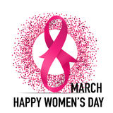 International Happy Women's Day. 8 March holiday background. Vec Stock Photos
