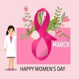International Happy Women's Day. 8 March holiday background. Vec. Tor illustration stock illustration