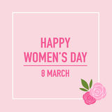 International Happy Women's Day. 8 March holiday background. Vec Royalty Free Stock Image
