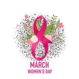 International Happy Women's Day. 8 March holiday background.. Vector illustration vector illustration