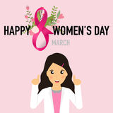 International Happy Women's Day. 8 March holiday background.  Royalty Free Stock Photo