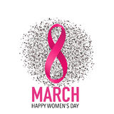 International Happy Women's Day. 8 March holiday background.  Stock Image