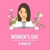 International Happy Women's Day. 8 March holiday background. Vector illustration vector illustration