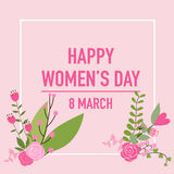 International Happy Women's Day. 8 March holiday background.  Stock Photo