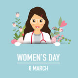 International Happy Women's Day. 8 March holiday background.  Royalty Free Stock Photos