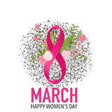International Happy Women's Day. 8 March holiday background.  Stock Images
