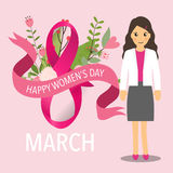 International Happy Women's Day. 8 March holiday background. Vector illustration stock illustration