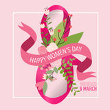 International Happy Women's Day. 8 March holiday background.  Stock Photos