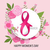 International Happy Women's Day. 8 March holiday background.  Royalty Free Stock Images