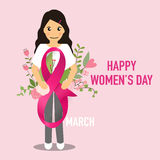 International Happy Women's Day. 8 March holiday background.  Stock Photography