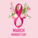 International Happy Women's Day. 8 March holiday background. Vector illustration royalty free illustration