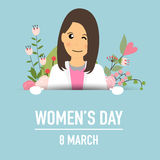 International Happy Women's Day. 8 March holiday background.  Royalty Free Stock Image