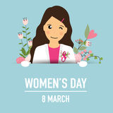 International Happy Women's Day. 8 March holiday background.  Royalty Free Stock Photography