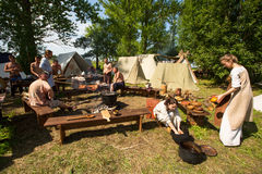 International historical festival of medieval culture Stock Photo