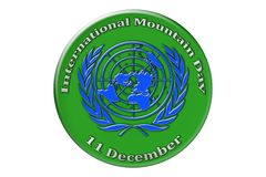 International holiday of the United Nations, International Mount. International Mountain Day, the international holiday of the United Nations, is celebrated on Royalty Free Stock Image